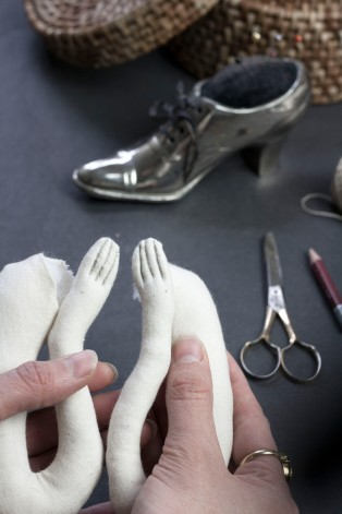 textile doll hands