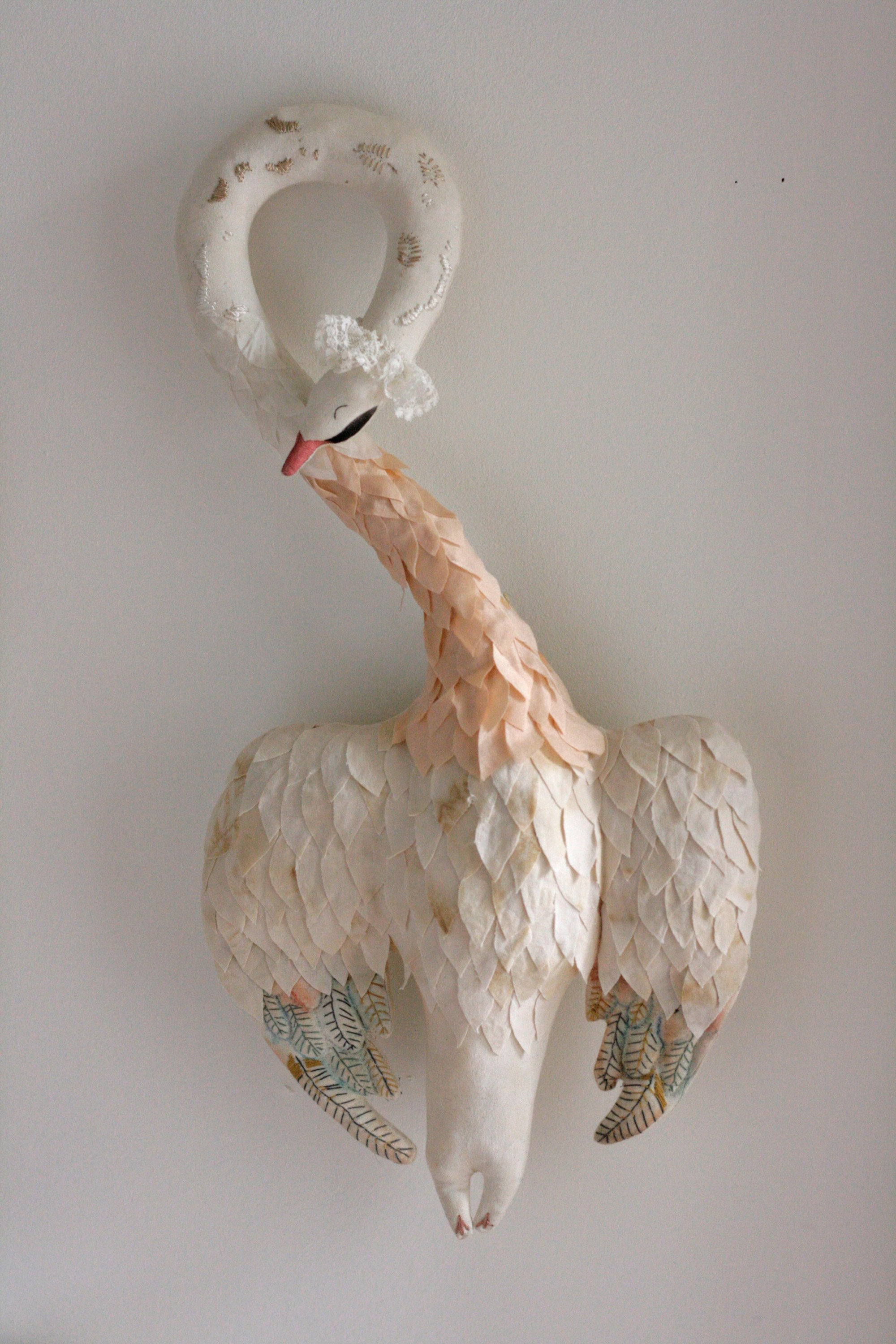 textile doll swan