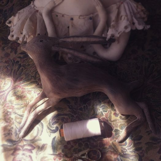 textile doll hare