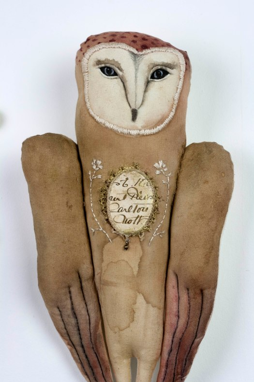 owl textile art