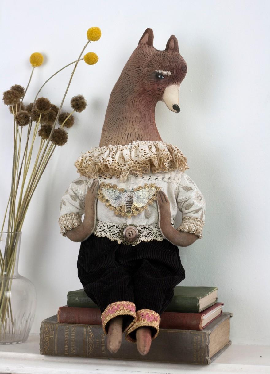 textile art bear