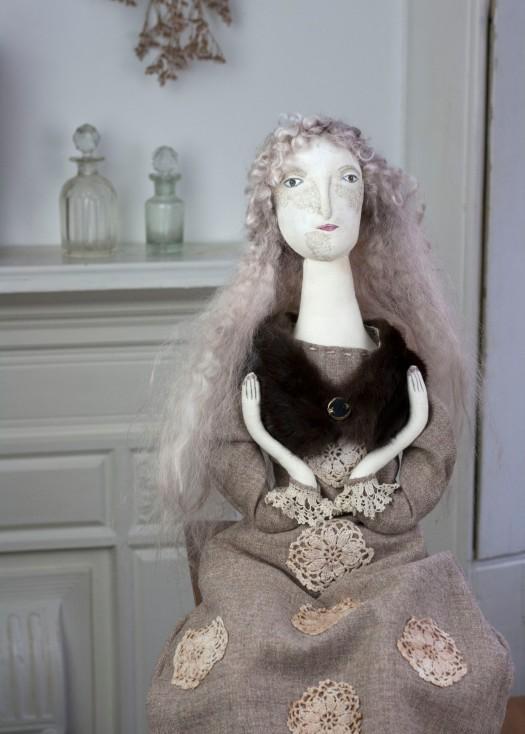 textile art doll Pantovola