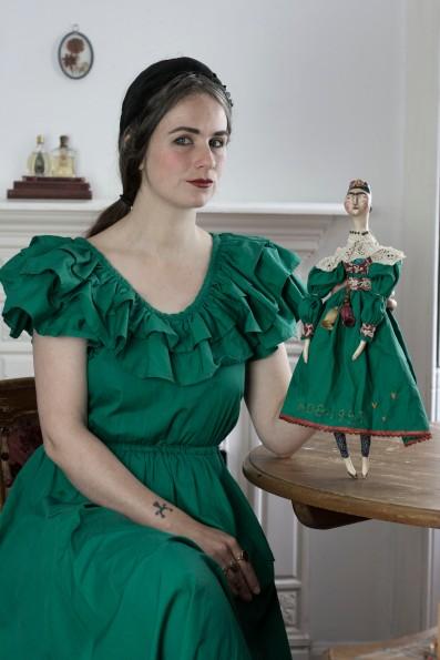 Portrait with Frida doll
